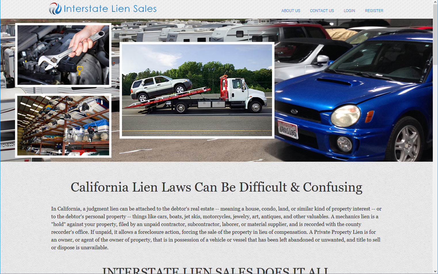 Interstate Lien Sale Service