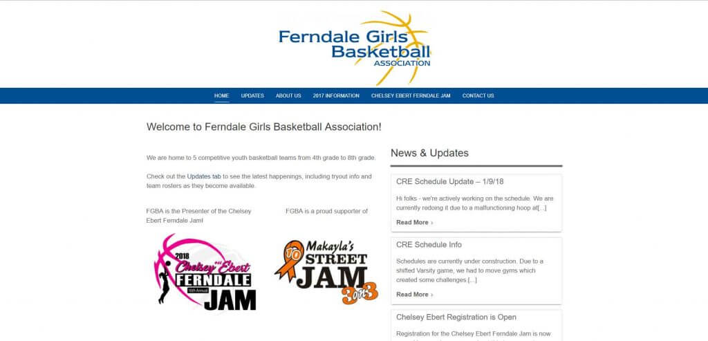 Ferndale Girl's Basketball Association